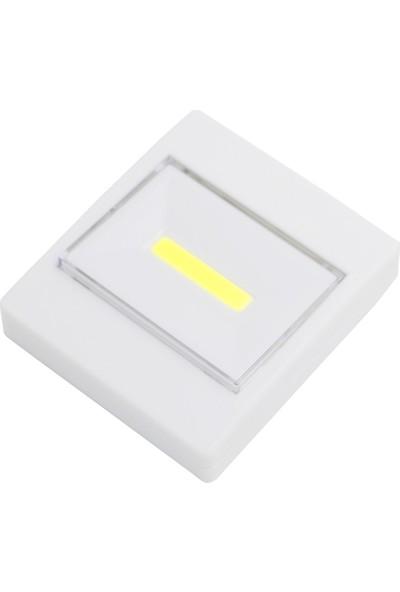 LedLine Yapışkanlı Mıknatıslı Pilli Duvar Dolap Lambası Oda Lambası