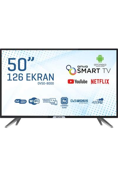 """Onvo OV50-8000 50"""" 127 Ekran Uydu Alıcılı Full HD Smart LED TV"""