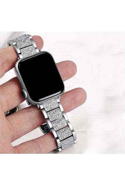Hualimei Apple Watch 38/40 mm Kordon Gri