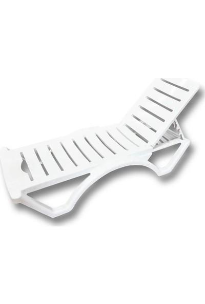 Temel Beyaz Plastik Şezlong