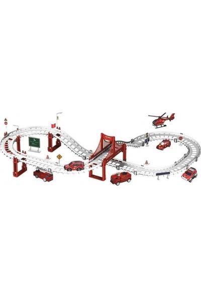 Furkan Toys Track Games 92 Parça Itfaiye Seti Parkur Seti 395 cm FR37739