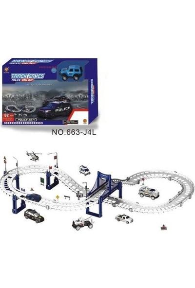 Furkan Toys Track Games 92 Parça Polis Parkur Seti 395 cm FR37760