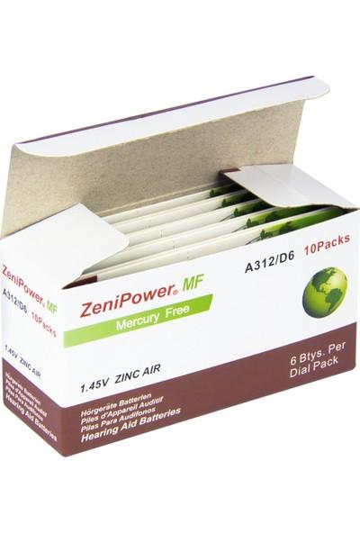 Zenipower 312 Numara Işitme Cihazı Pili / 5 Paket / 30 Adet