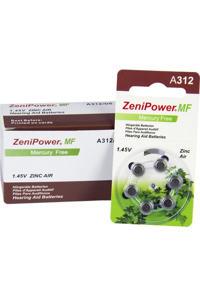 Zenipower 312 Numara Işitme Cihazı Pili / 10 Paket - 60 Adet