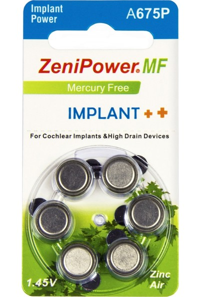 Zenipower Implant Pili (Koklear - Cochlear) A675P (10 Paket-60 Adet)