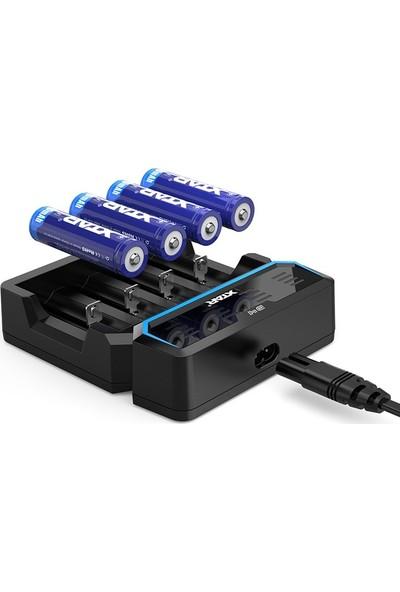 Xtar D4 - Taşınabilir Hızlı Li-Ion Pil Şarj Cihazı / 4lü