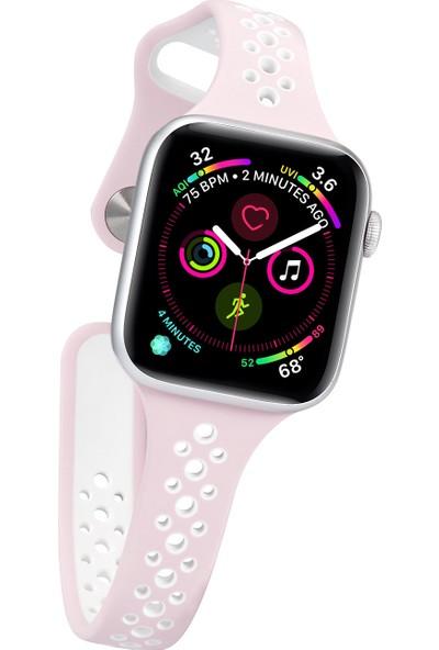 Yukka Apple Watch Saat 2 Renkli Spor Silikon Kayış 40 mm