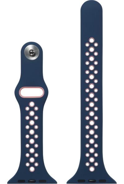 Yukka Apple Watch Saat 2 Renkli Spor Silikon Kayış 38 mm