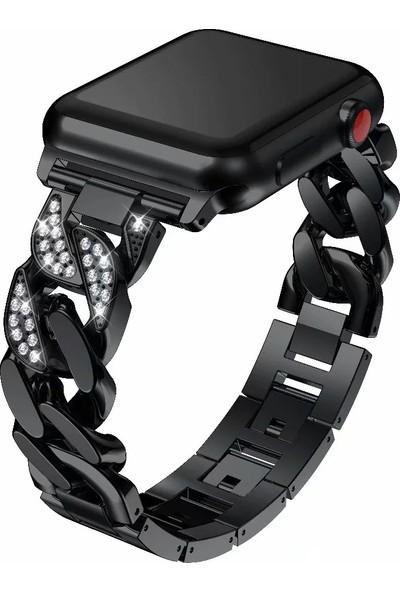 Yukka Apple Watch Kayış İçin Metal Zincir Bilezik Elmas 38 mm