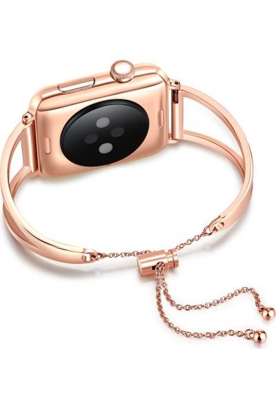 Yukka Apple Watch İçin Kayış Paslanmaz Çelik Metal Kayış 38 mm