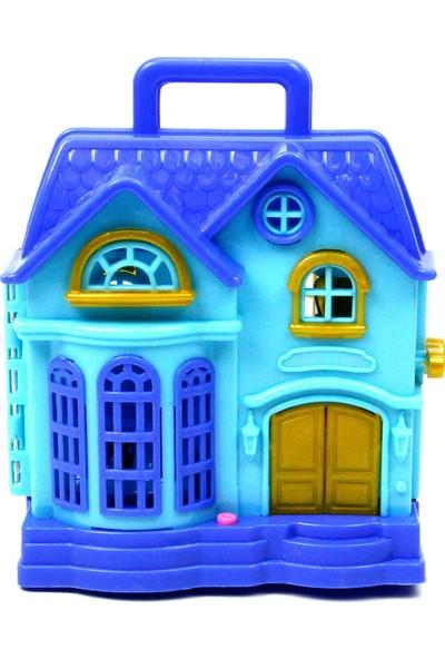 Vardem Işıklı Sesli Bebek Evi Şato Mavi