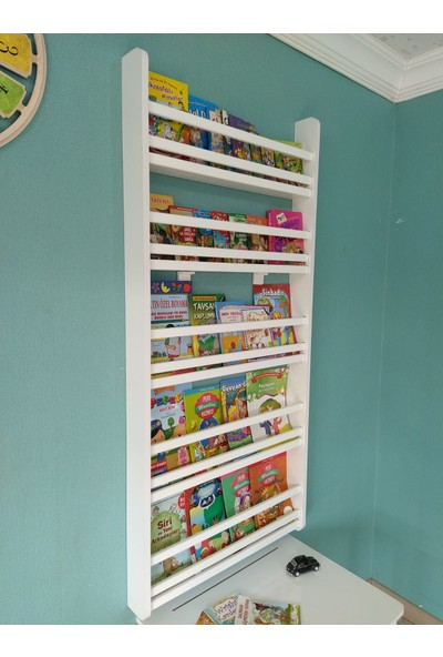 Emdief Home Safir Model 5 Raflı 70 cm Montessori Kitaplık
