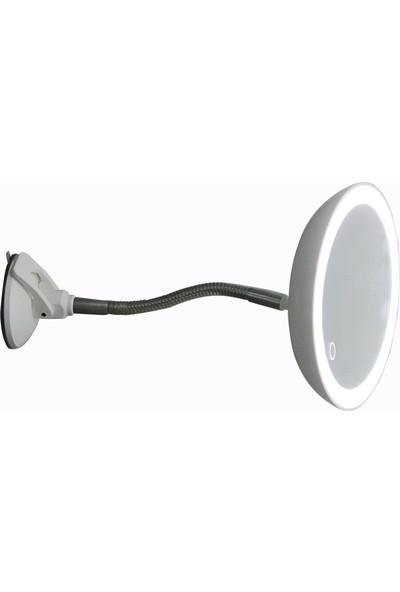 Land Of Myth - Şerit LED Işıklı Banyo Makyaj - Tıraş Aynası, 10X HD ZOOM, Dokunmatik Işık Kısma-Artırma, Esnek Kol