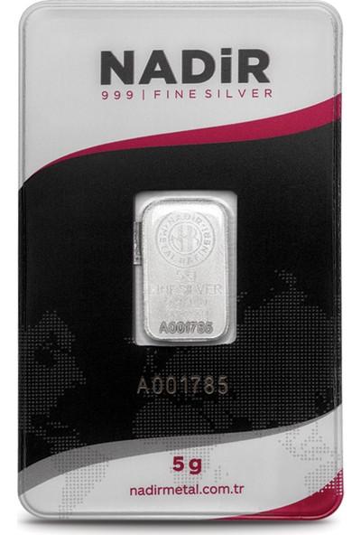 Nadir Fine Silver 999 Ayar Külçe Gümüş 5 Gram