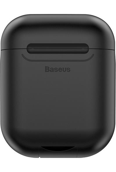 Baseus 5V / 1A Kablosuz Şarj Destekli Apple AirPods Kılıf - Siyah