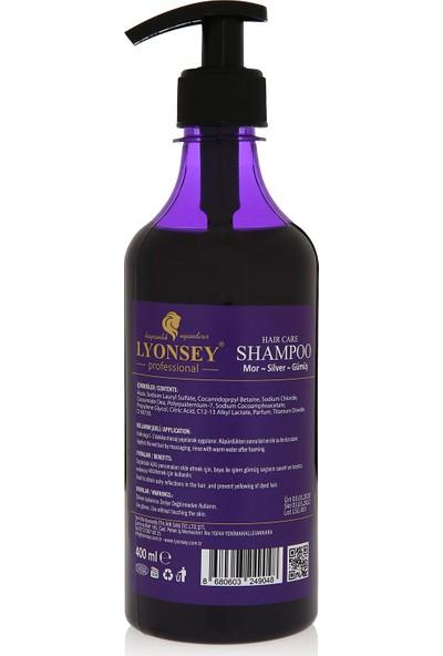 Lyonsey Silver Gümüş Mor Şampuan 400 mnl - Purple Color Boyalı Saç Tiplerinde Küllü Yansımalar