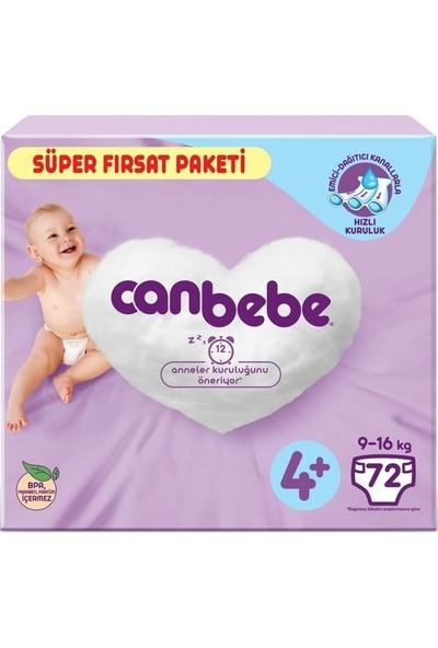 Canbebe Bebek Bezi Süper Fırsat Paketi No:4+ 9-16 kg 72'li