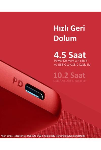 Anker PowerCore III Sense 10000 mAh Taşınabilir Şarj Cihazı - USB-C 18W Power Delivery Powerbank - Venetian Red - A1231