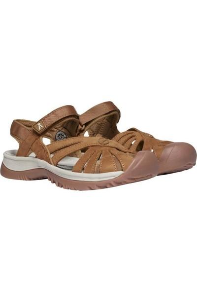 Keen Rose Leather Kadın Sandalet Kahverengi