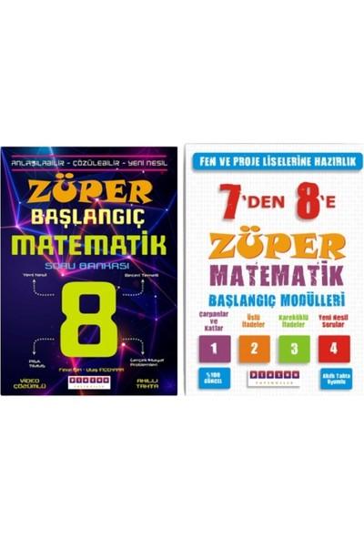 Platon Yayınları 8.sınıf Züper Başlangıç Matematik ve 7'den 8'e Züper Matematik Başlangıç Modülleri - 2 Kitap