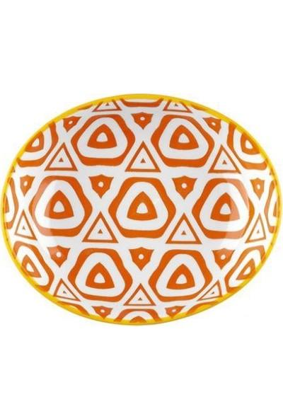 Taç Histori 12 x 10 cm 6'lı Porselen Oval Kase Turuncu TAÇ-2169