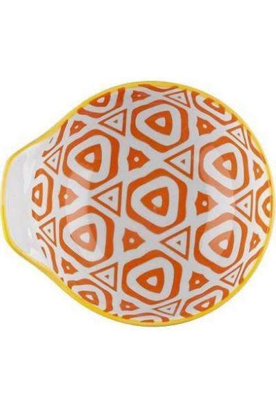 Taç Histori 11 cm 6'lı Porselen Yuvarlak Kase Turuncu TAÇ-2174