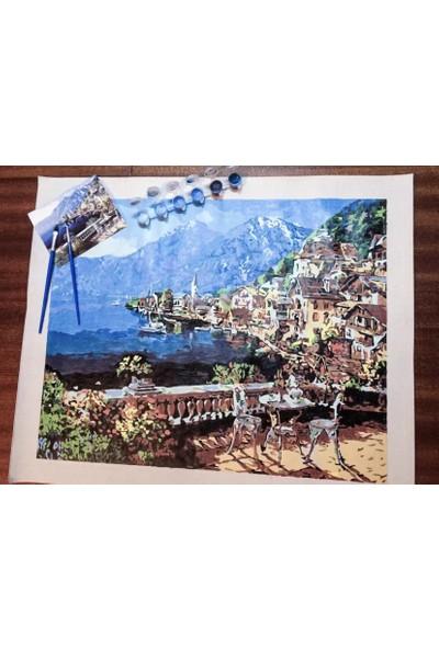 Akmer Numaralı Boyama Akdeniz Kasabası Hobi Amaçlı Numaralı Boyama Seti 40 x 50 cm