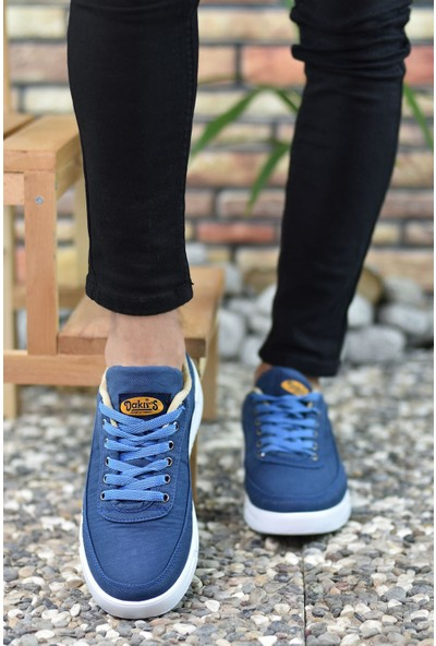 Riccon Mavi Beyaz Erkek Sneaker 00122003