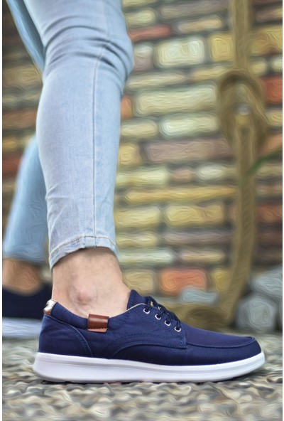 Riccon Lacivert Beyaz Erkek Sneaker 001223