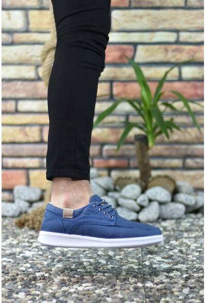 Riccon Mavi Beyaz Erkek Sneaker 001223