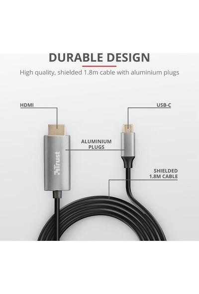 Trust 23332 Calyx USB-C To HDMI Kablo