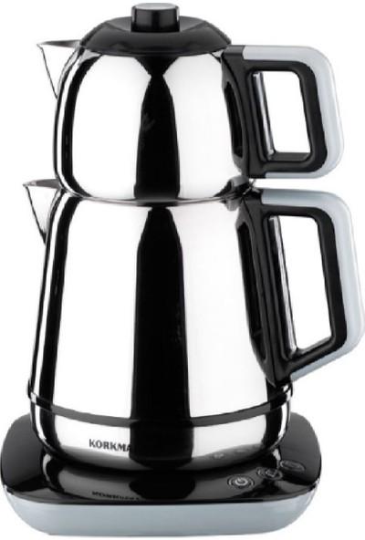 Korkmaz A354-01 Demiks Siyah Elektrikli Çaydanlık