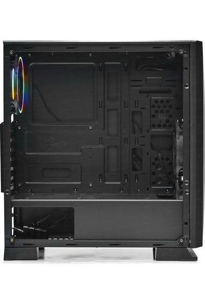 Dark Raider 500W 3x12cm RGB Fanlı, Tempered Glass Cam Panel, USB 3.0 Bilgisayar Kasası (DKCHRAIDER500VX)