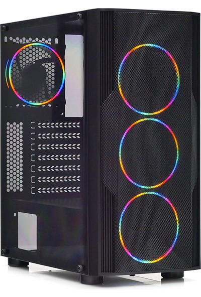 Dark Diamond PRO 600W 4x12cm RGB Full Akrilik Ön ve Yan Panel, USB 3.0 Bilgisayar Kasası (DKCHDIAMONDPROMS600)