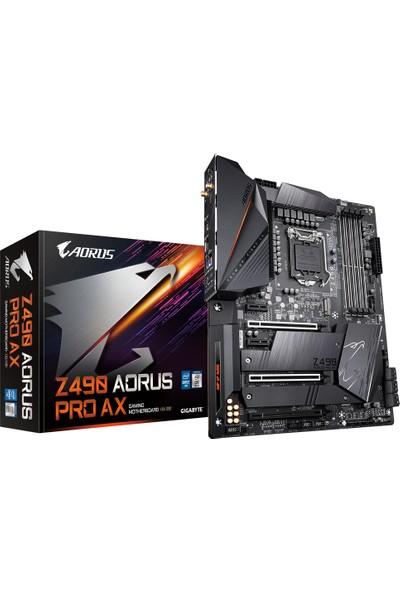 Gigabyte Z490 Aorus Pro AX Intel® Z490 5000 MHz DDR4 1200 Pin ATX Anakart