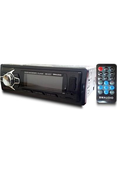 BM Audio 4X50W Bluetoothlu Kumandalı Oto Teyp