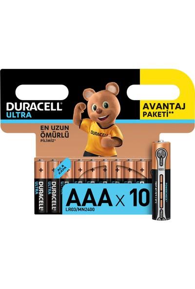 Duracell Ultra İnce Kalem Pil 10'lu AAA