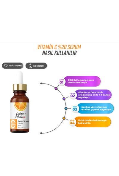 Carino E Bella Vitamin C %20 + Hyaluronik Asit (Acid) Cilt Serumu Platin Seri 30ML