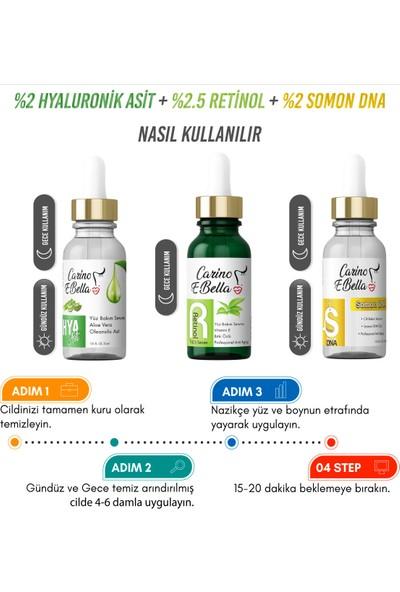 Somon DNA Serum Hyaluronik Asit Serum Retinol Serum 3'lü Set 30 ml