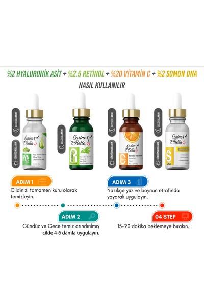 C Vitamini Serum - Somon DNA - Hyaluronik Asit - Retinol Serum Set 30 ml