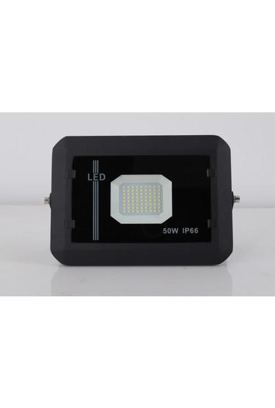 Qenos 50 Watt Smd Led Projektör 5000 Lumen Ip 66 - 6500 Kelvin Beyaz Işık