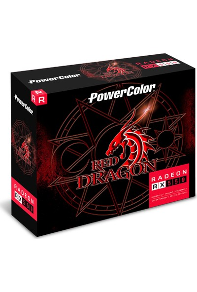 PowerColor Red Dragon RX550 4GB 128Bit GDDR5 DX(12) PCI-E 3.0 Ekran Kartı (AXRX 550 4GBD5-DH)