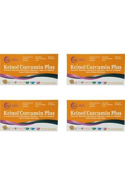 Krinol Curcumin Plus - Novasol Curcumin - 30 Kapsül - 4 Kutu