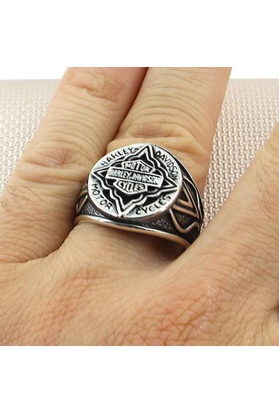 Prestige Gümüş Erkek Yüzük Harley Davidson