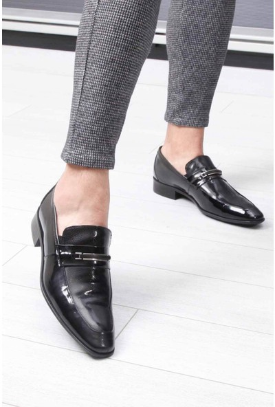 Berenni Siyah Rugan Erkek Klasik Ayakkabı