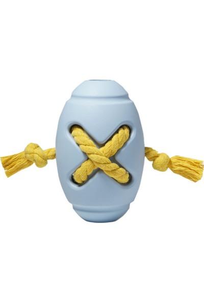 Yukka Köpek Çiğneme Kauçuk Oyuncak Halat Rugby Topu