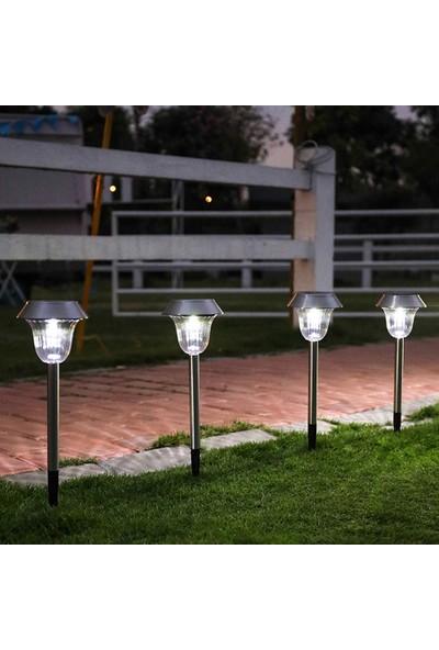 Yukka Güneş Enerjisi Işık 2'li Açık Alan Paslanmaz Çelik Dekoratif Ev Bahçe Renkli