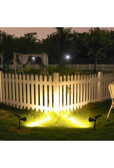 Yukka Açık Havada Güneş Enerjisi Işık Su Geçirmez Çim Spot Bahçe Işık 4 LED IP65