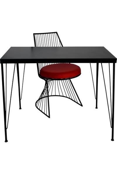 Lovera Çalışma Masası Siyah Antre 90 x 45 cm