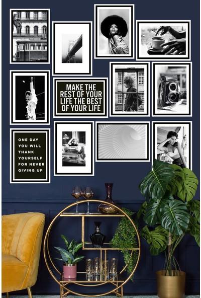Kate Louise 12 Parça Çerçeve Görünümlü Mdf Tablo Seti 80 x 80 cm